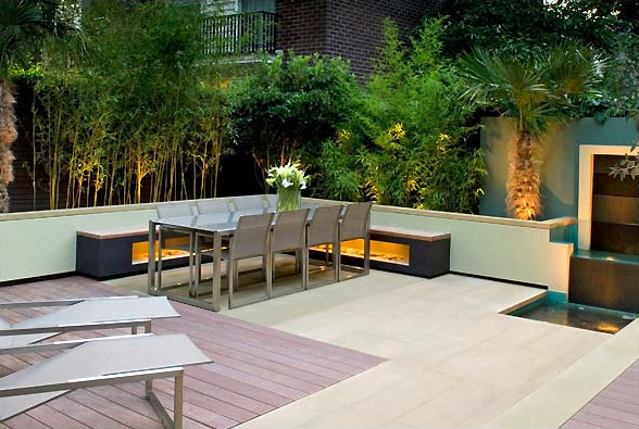 Modern garden design thatsmygarden for Modern back garden designs
