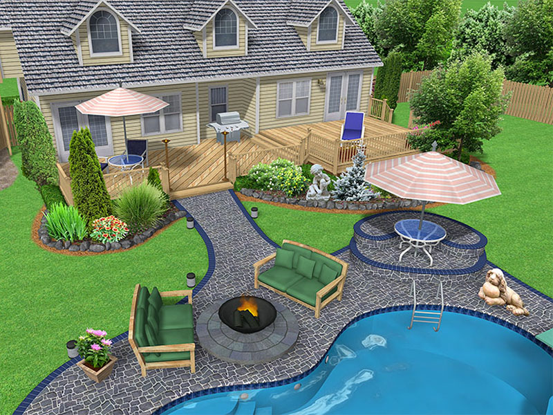 Garden design thatsmygarden for Big back garden designs
