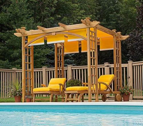 covered pergola plans furniture